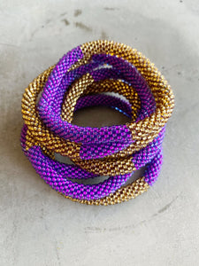 PURPLE / GOLD BRACELET