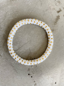 WHITE GOLD DOT BRACELET