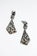Load image into Gallery viewer, Dalmatian Jasper Earrings with Two Drops