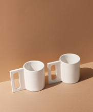 Load image into Gallery viewer, Gloss White Geo Mug