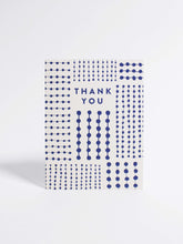 Load image into Gallery viewer, Blue Pattern Thank You Card