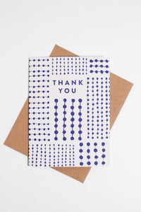 Blue Pattern Thank You Card