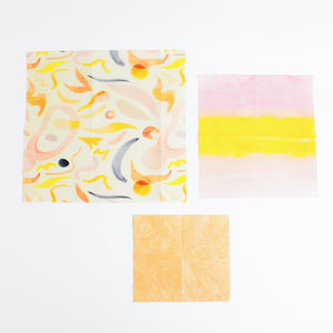 Sunset Sustainable Beeswax Wraps - 3 pack