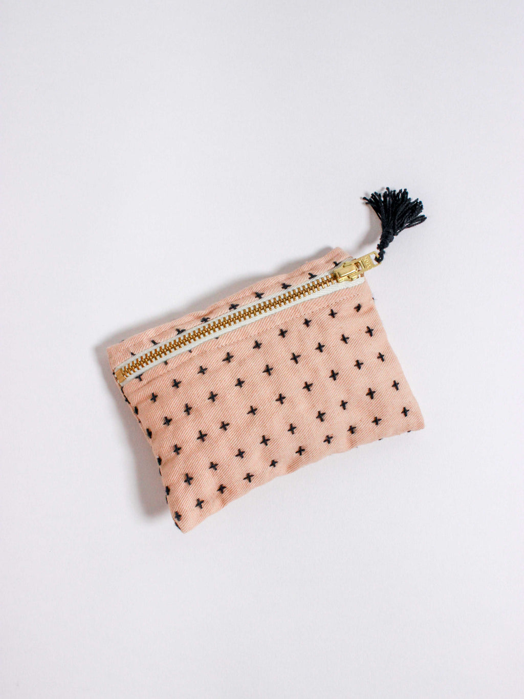 Cream Stitch Coin Purse