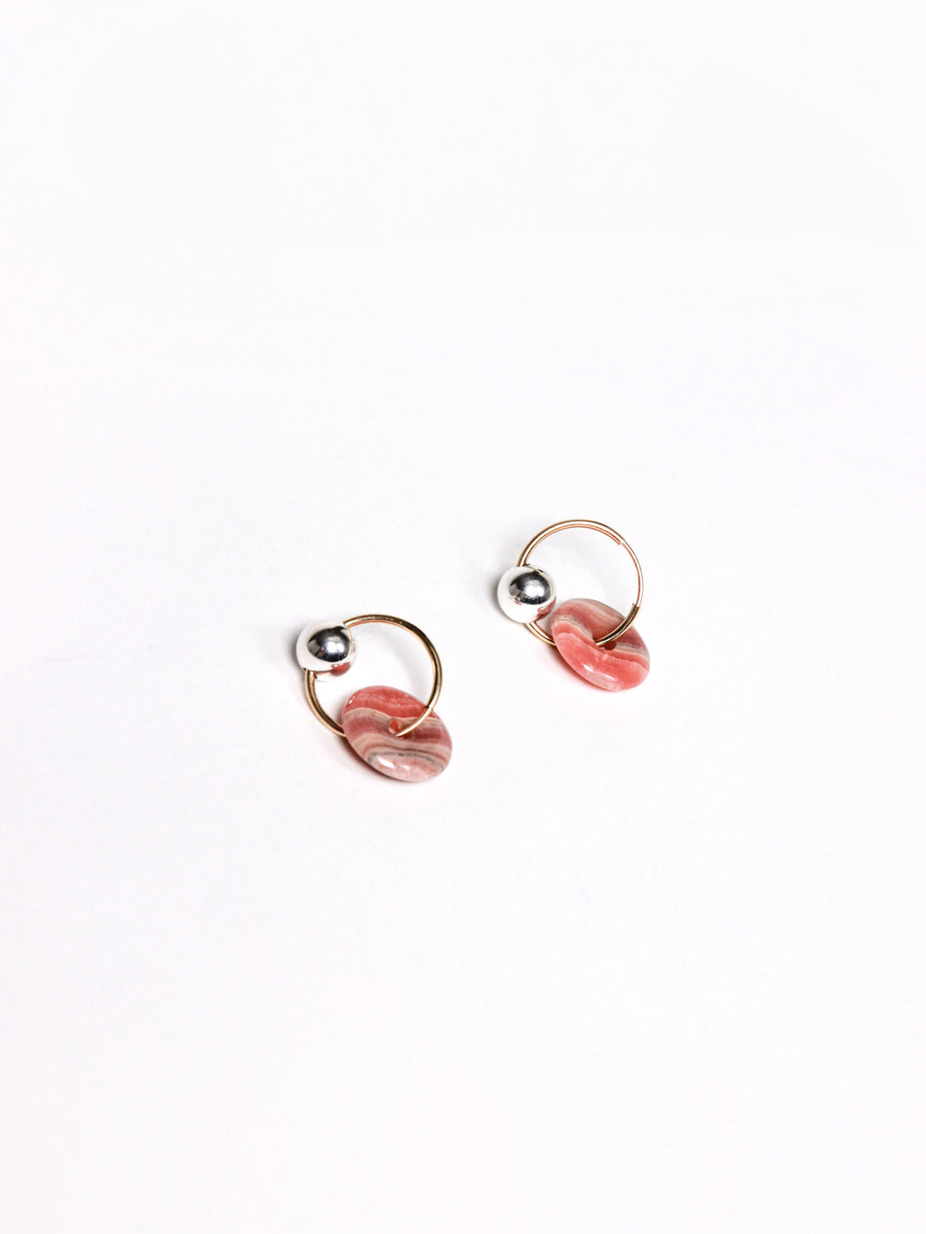 Mini Rhodo Orbis Earrings