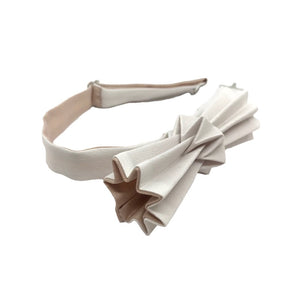 Noeud papillon origami bicolore blanc-sable