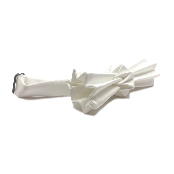 Noeud papillon origami blanc