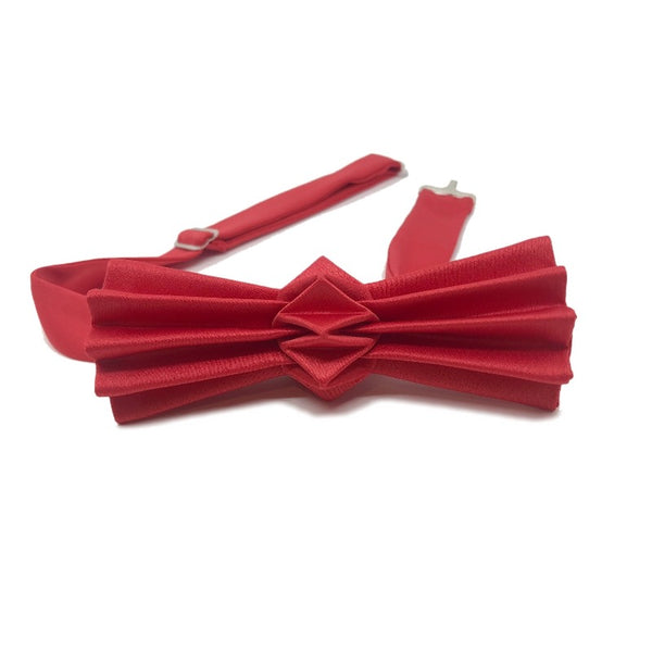Noeud papillon origami rouge