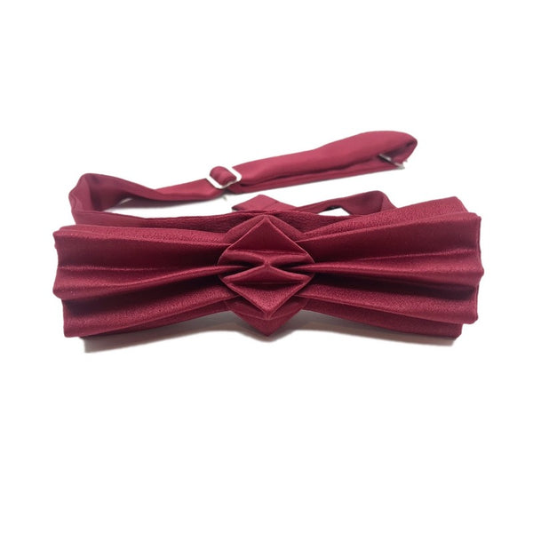 Noeud papillon origami bordeaux
