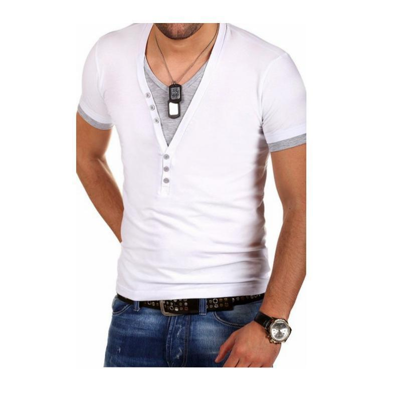 Men's V-Neck Short-Sleeved T-Shirt