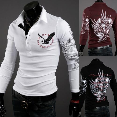 Men's Eagle Slim Long Sleeve POLO