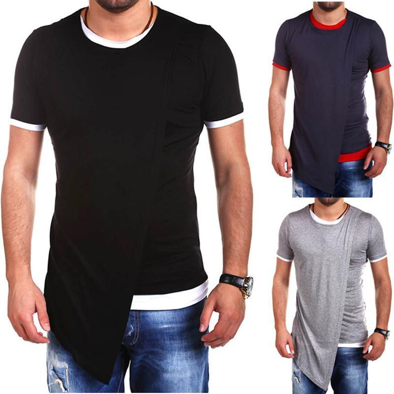 Men's Fashion Door Slinky Short-Sleeved T-Shirt
