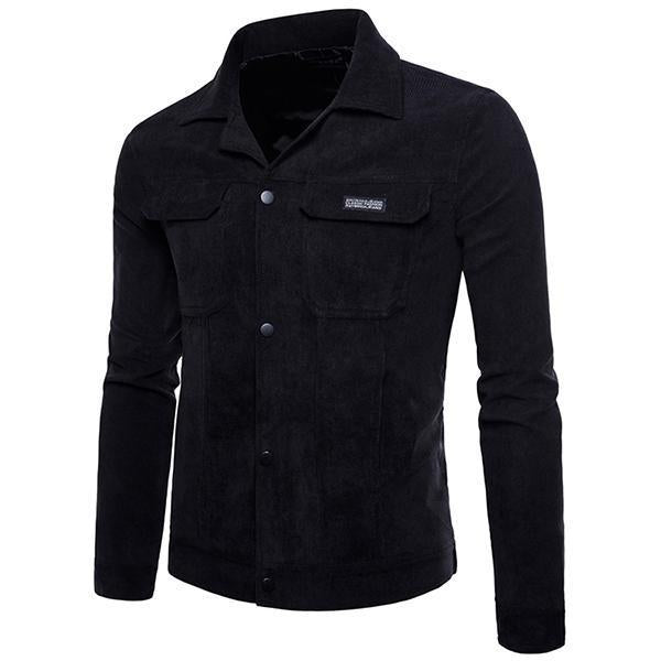 Men's Fashion Solid Color Corduroy Short Jacket