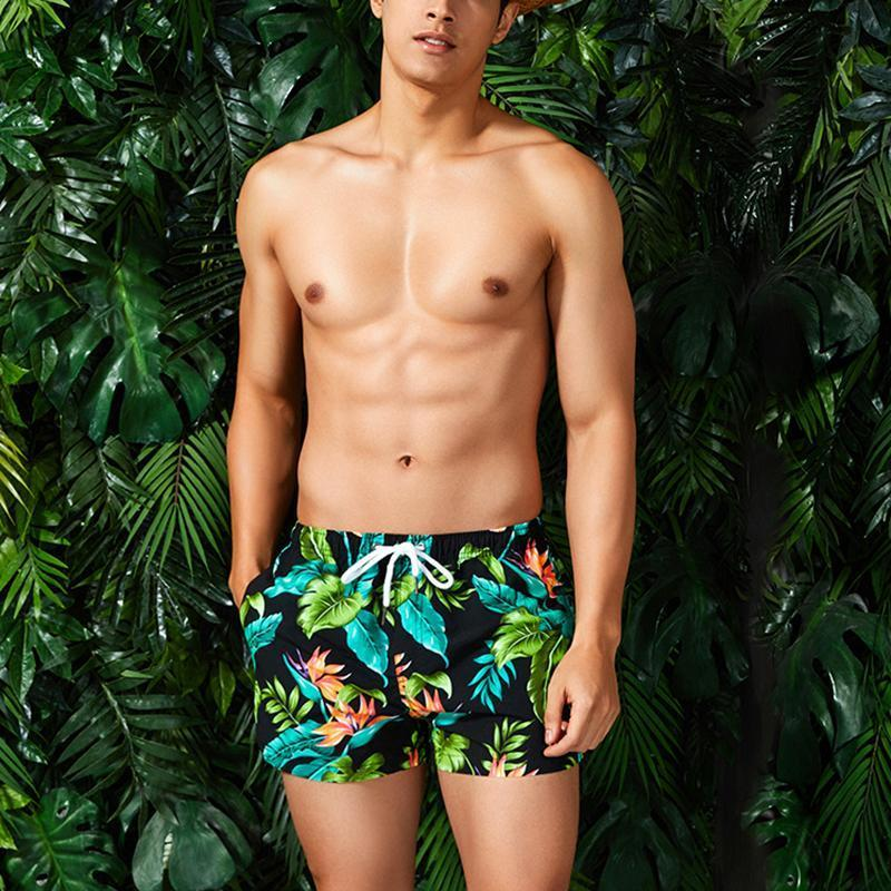 Men's Fashion Printed Colour Quick Drying Beach Shorts