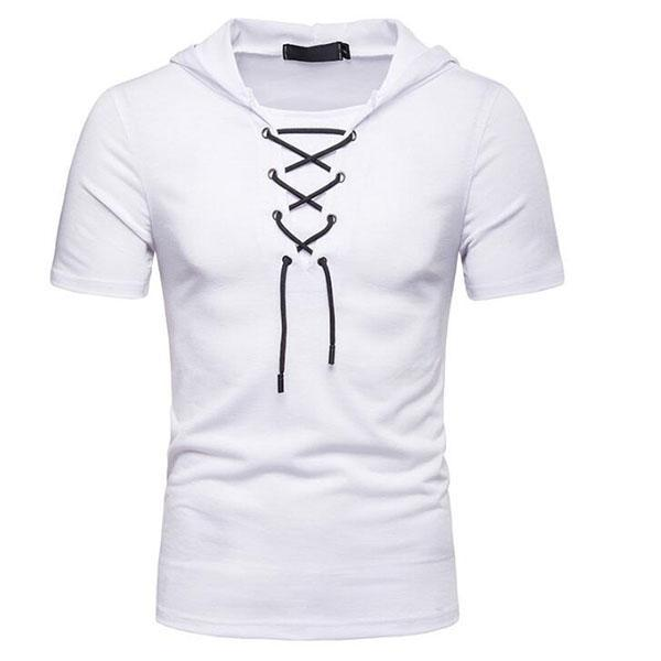 Men's Fashion Sports Casual Hooded Short-Sleeved T-Shirt
