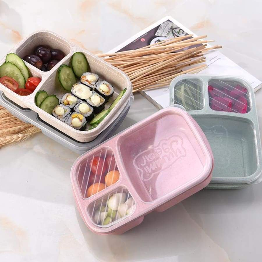 Wheat Microwave Bento Lunch Box Picnic Food Container Storage Box