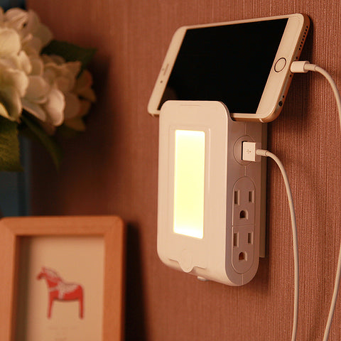 Dual USB Charging Socket Intelligent Led Night Lamp