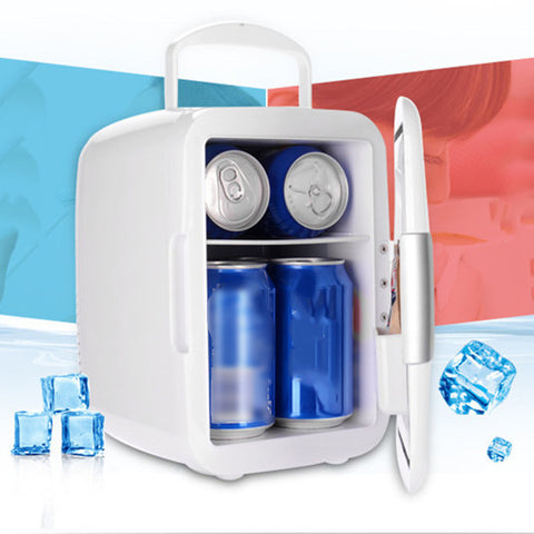 4L car home dual-use small refrigerator