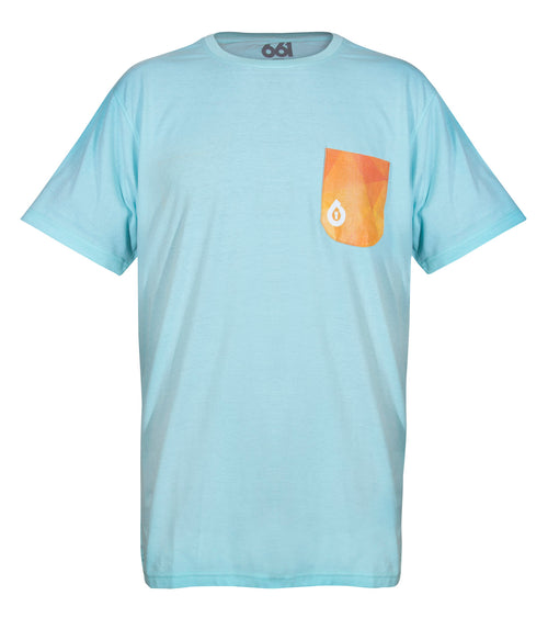 GEO POCKET TEE DUCK EGG