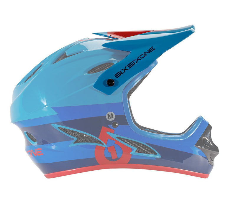 COMP HELMET VISOR RED/BLUE