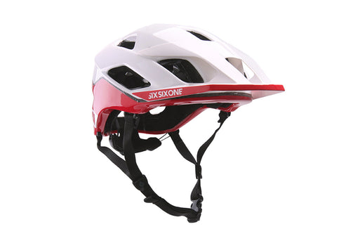 EVO AM PATROL HELMET W/MIPS WHITE/RED (CPSC)
