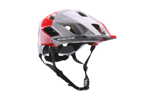 EVO AM HELMET - WHITE / RED