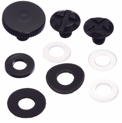 COMP HELMET RENTAL VISOR SCREW SET OS BLACK