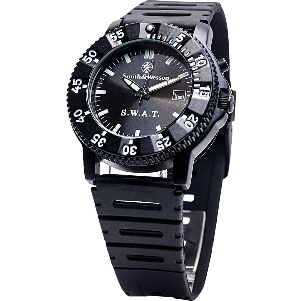 S.W.A.T. Watch by Smith & Wesson (Back Glow, Rubber Band)