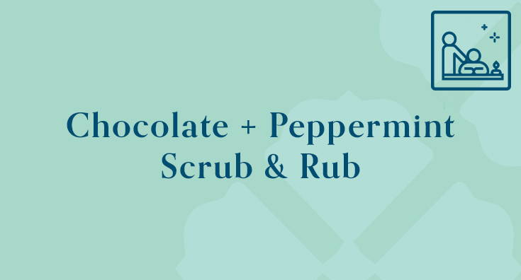 Chocolate + Peppermint Scrub & Rub