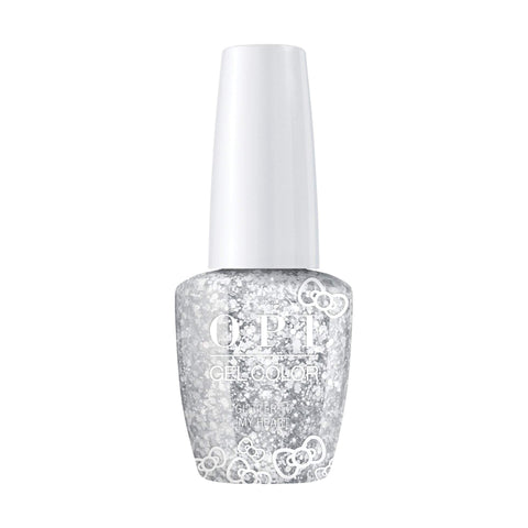 Image of OPI, Hello Kitty GelColor Glitter to My Heart,  0.5 fl oz