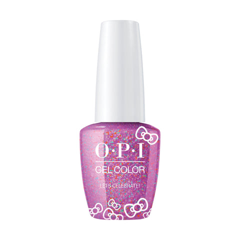Image of OPI, Hello Kitty GelColor Let's Celebrate,  0.5 fl oz