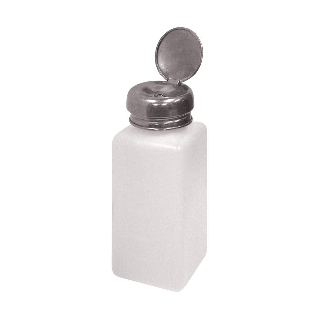 "Plastic Pump Dispenser Bottle 2""x2""x5"", 8 oz."