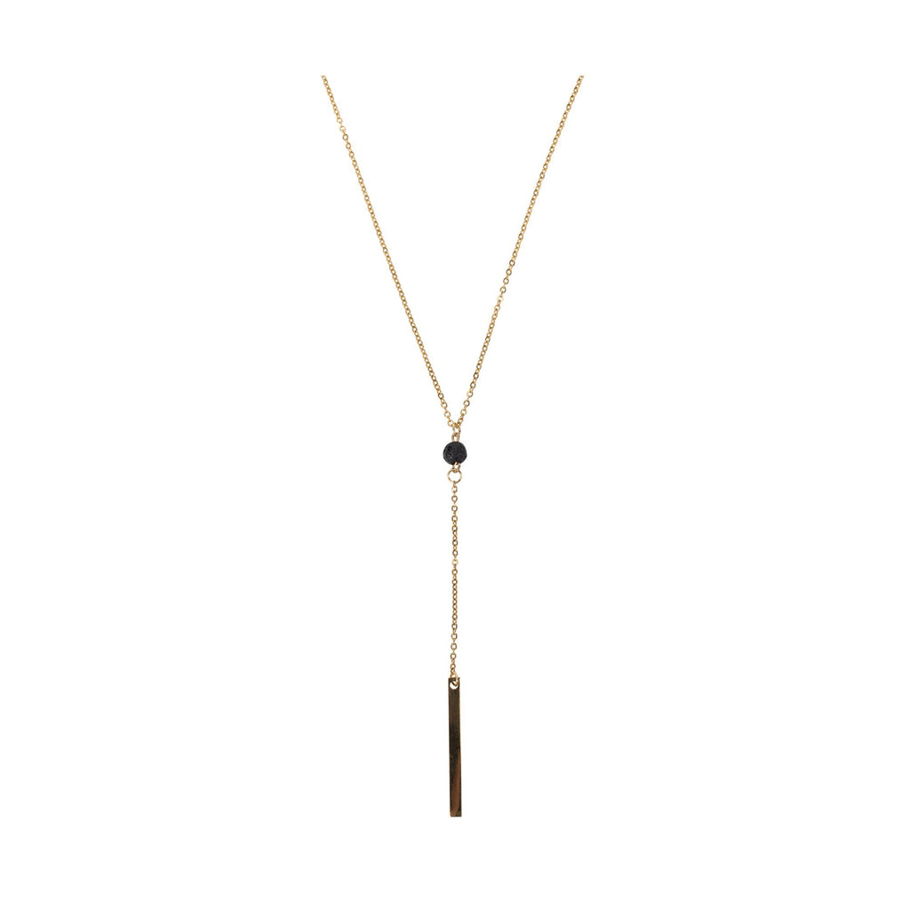 Serina & Company Bar Lava Necklace