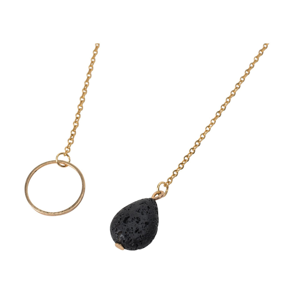 Serina & Company Tear Drop Lava Necklace