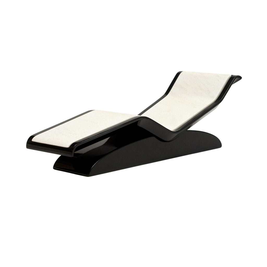 Diva Moderno Infrared Heated Lounger, Limestone, Ivoire