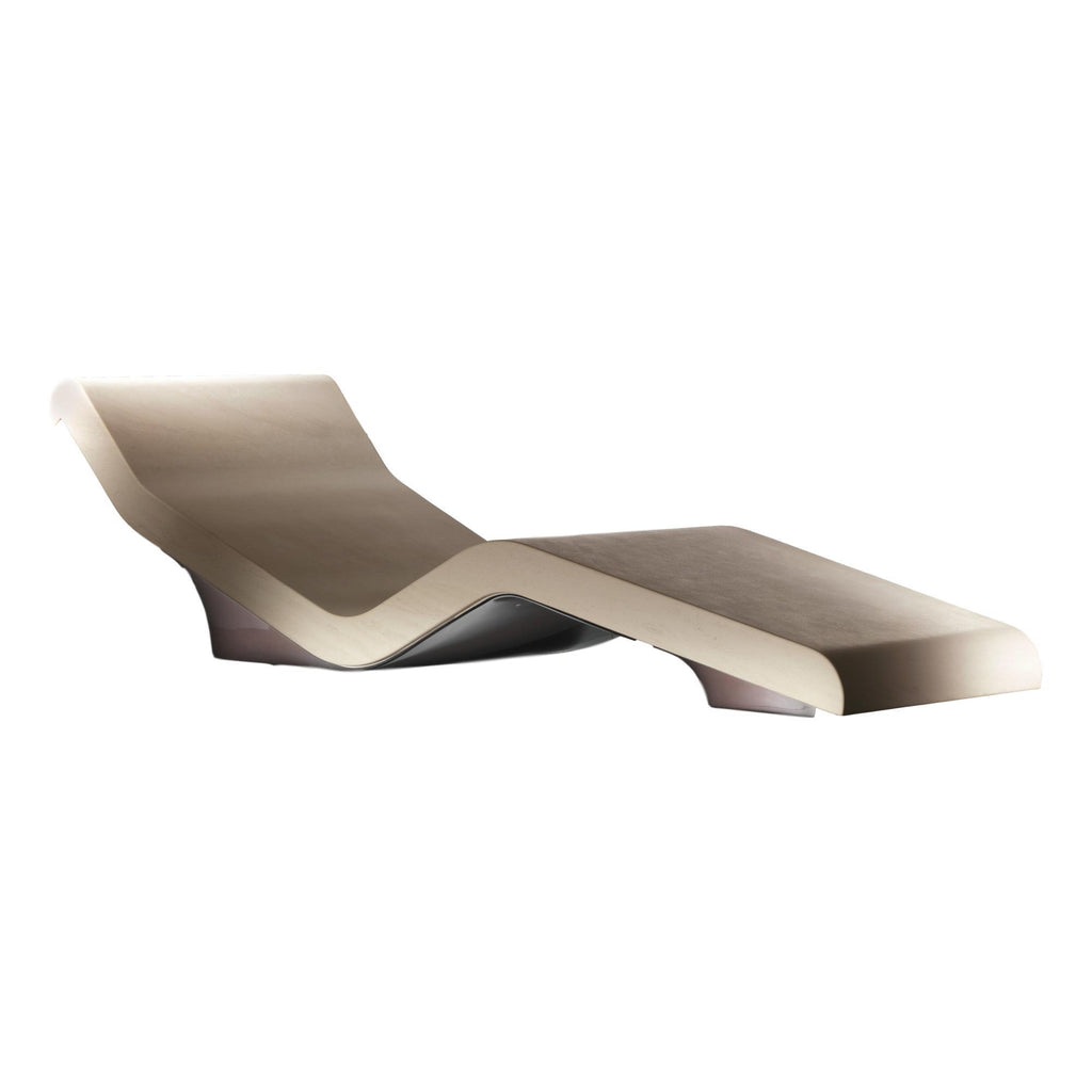 Cleopatra Basico Infrared Heated Lounger, Limestone, Ivoire