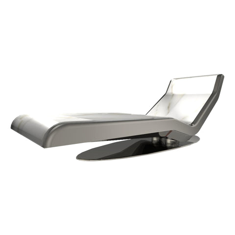 Image of Caesar Infrared Heated Chaise, Limestone, Beige