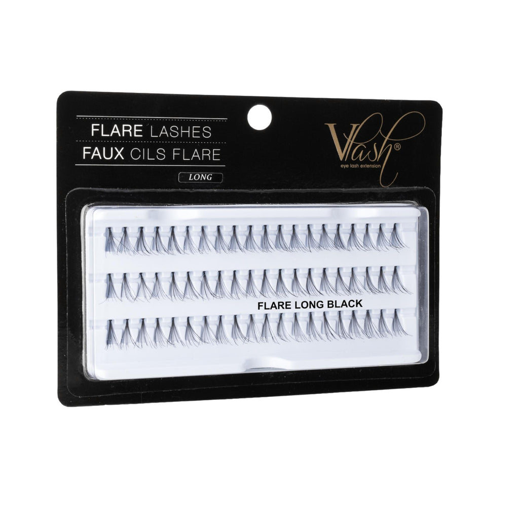 Vlash Flare Lashes, Long, 60 Pcs per Tray