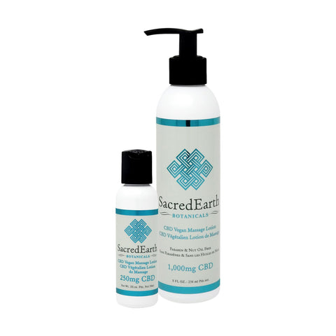Image of Sacred Earth CBD Vegan Massage Lotion