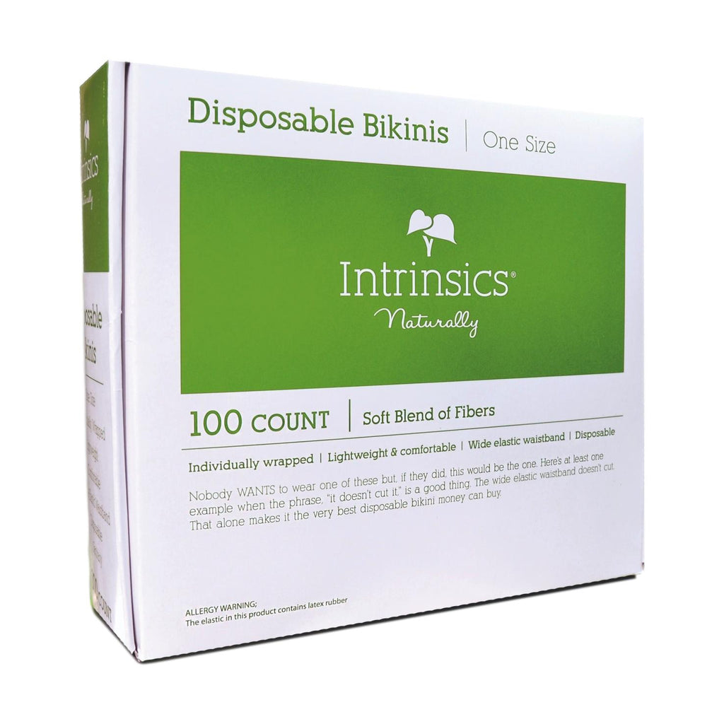 Intrinsics Disposable Bikinis, White, 100 ct