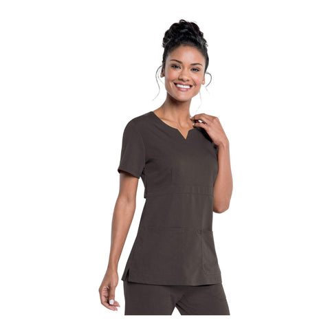 Image of Apparel Black / 2XL Urbane Leah Empire Notch Neck Tunic