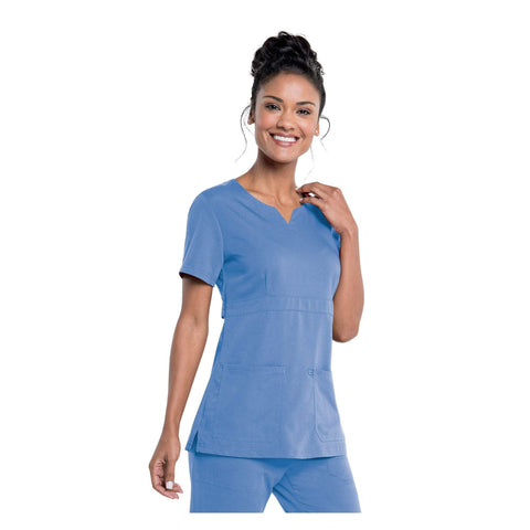 Image of Apparel Ceil Blue / 2XL Urbane Leah Empire Notch Neck Tunic