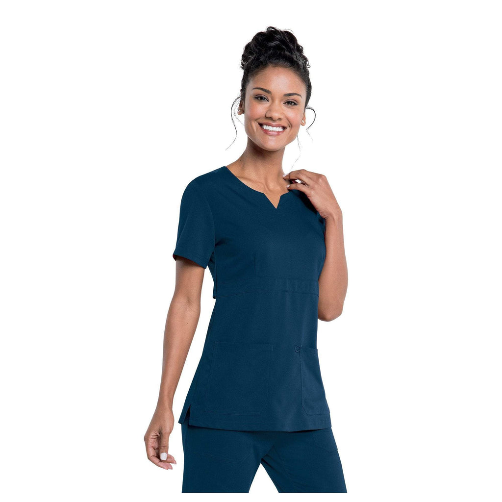 Apparel Navy / 2XL Urbane Leah Empire Notch Neck Tunic