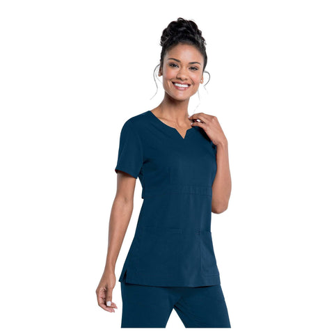 Image of Apparel Navy / 2XL Urbane Leah Empire Notch Neck Tunic