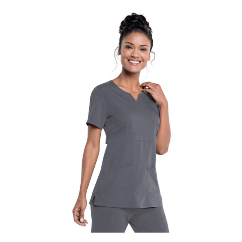 Image of Apparel Steel Grey / 2XL Urbane Leah Empire Notch Neck Tunic