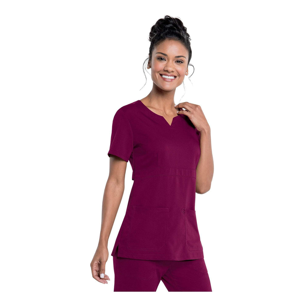 Apparel Wine / 2XL Urbane Leah Empire Notch Neck Tunic
