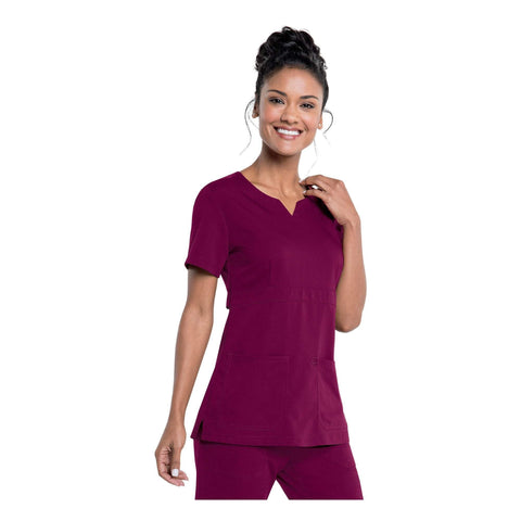 Image of Apparel Wine / 2XL Urbane Leah Empire Notch Neck Tunic