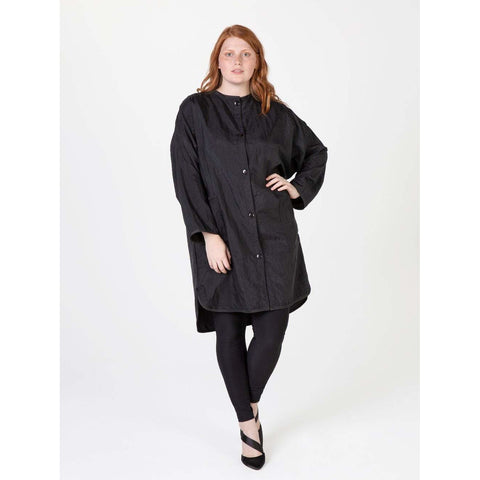 Image of Betty Dain Big Shirt Stylist Tunic, Black