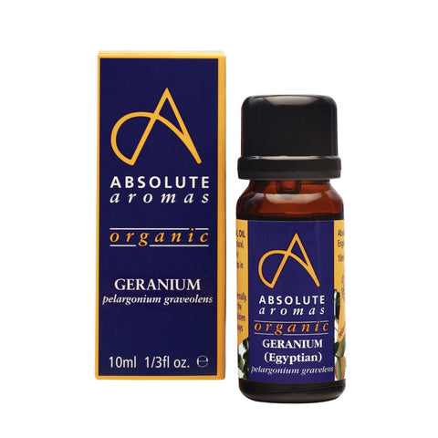 Aromatherapy 10 ml Absolute Aromas Organic Geranium Egyptian Essential Oil 10ml