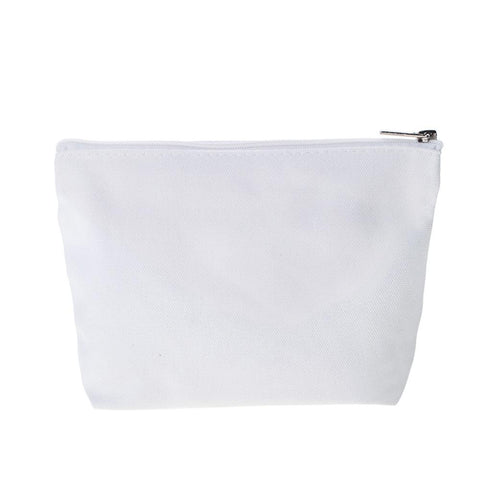 Image of White Cotton Zipper Bag